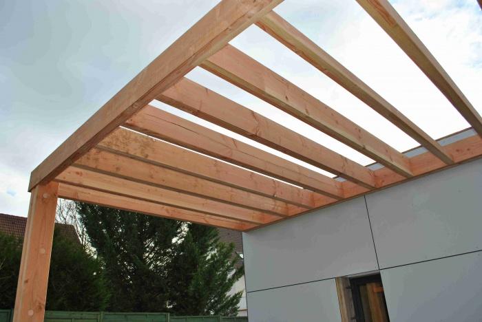 Extension de maison LSS (77) : photo-pergola-chantier-extension-maison-bois-77.JPG