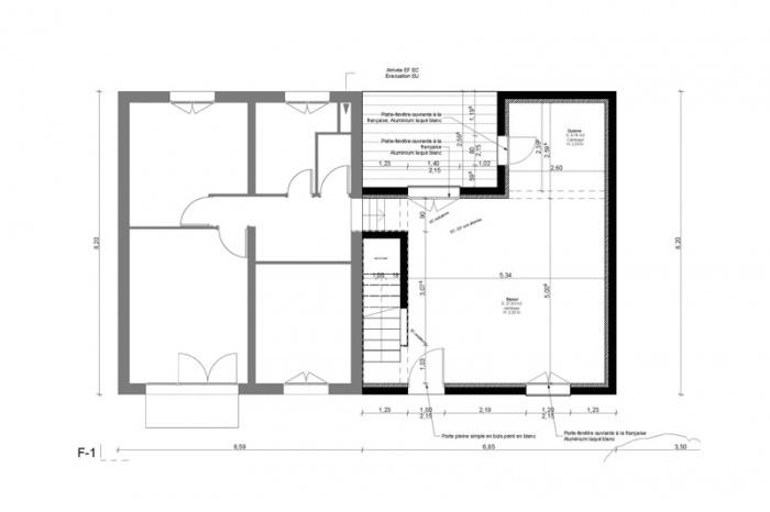 Extension de maison AVN1 (77) : plan-rdc-extension-maison-avn1-77-sd