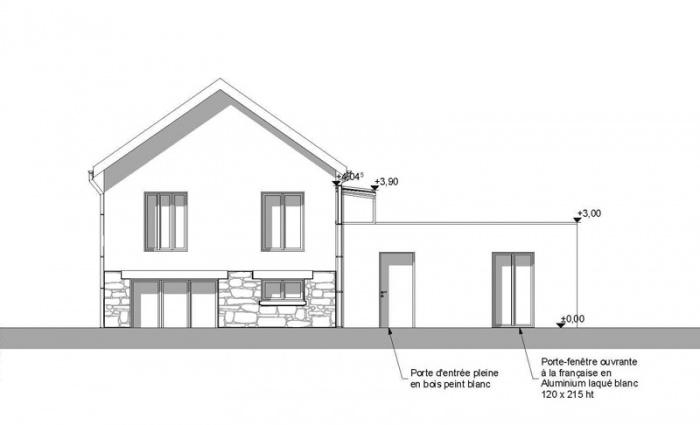 Extension de maison AVN1 (77) : facade-ouest-extension-maison-avn1-77-sd