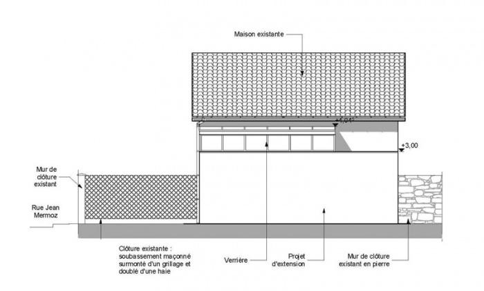 Extension de maison AVN1 (77) : facade-sud-extension-maison-avn1-77-sd