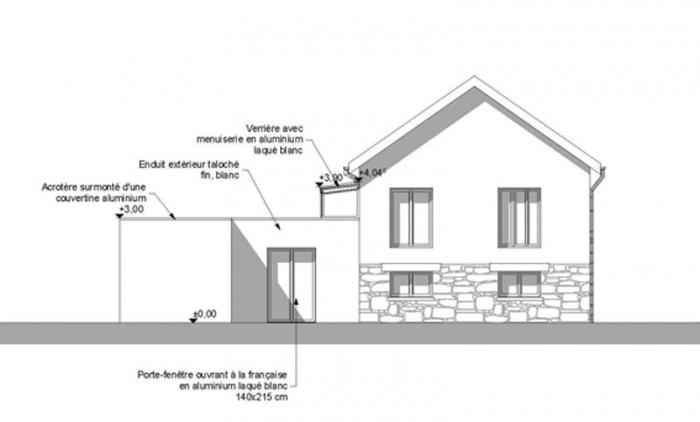 Extension de maison AVN1 (77) : facade-est-extension-maison-avn1-77-sd