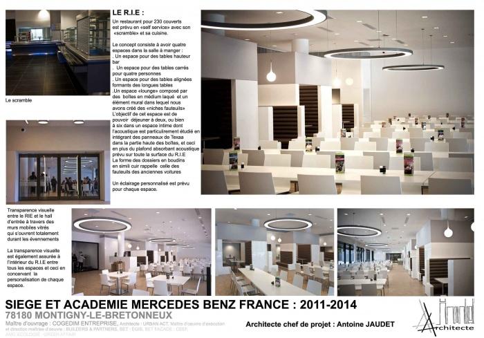 restaurant d 39 entreprise du siege social de mercedes benz france montigny le bretonneux une. Black Bedroom Furniture Sets. Home Design Ideas