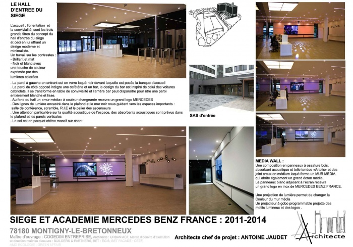 SIEGE ET ACADEMIE MERCEDES BENZ FRANCE