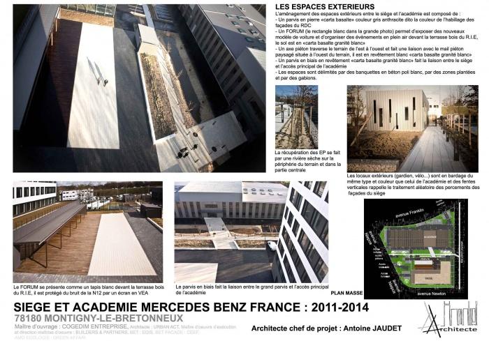siege et academie mercedes benz france montigny le bretonneux une r alisation de antoine jaudet. Black Bedroom Furniture Sets. Home Design Ideas