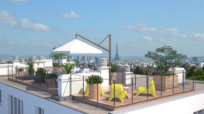 Aménagement d'un rooftop près de Paris