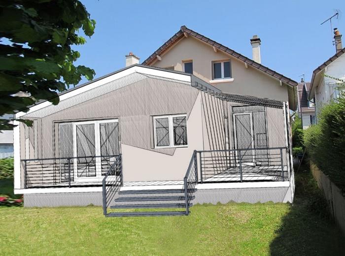 architectes extension d 39 une maison individuelle rueil malmaison. Black Bedroom Furniture Sets. Home Design Ideas