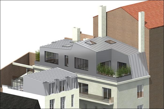 architectes nextfloor 1 sur l vation immeuble 92 boulogne billancourt. Black Bedroom Furniture Sets. Home Design Ideas