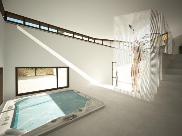 extension d 39 une grange pour cr ation d 39 espace bien tre boissy sous saint yon une. Black Bedroom Furniture Sets. Home Design Ideas