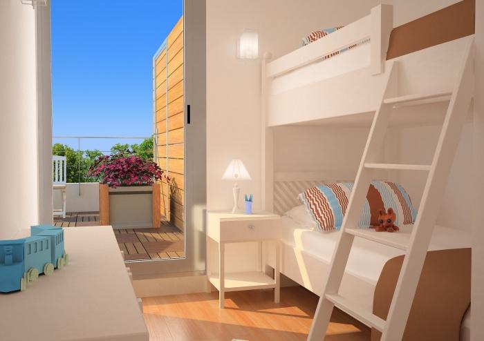 Résidence de tourisme 4 étoiles : Chambre enfants - appartements1