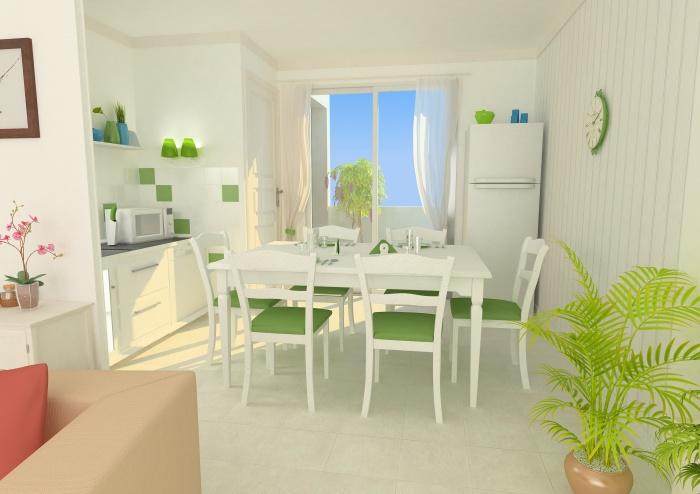 Résidence de tourisme 4 étoiles : Salle à manger - appartements1