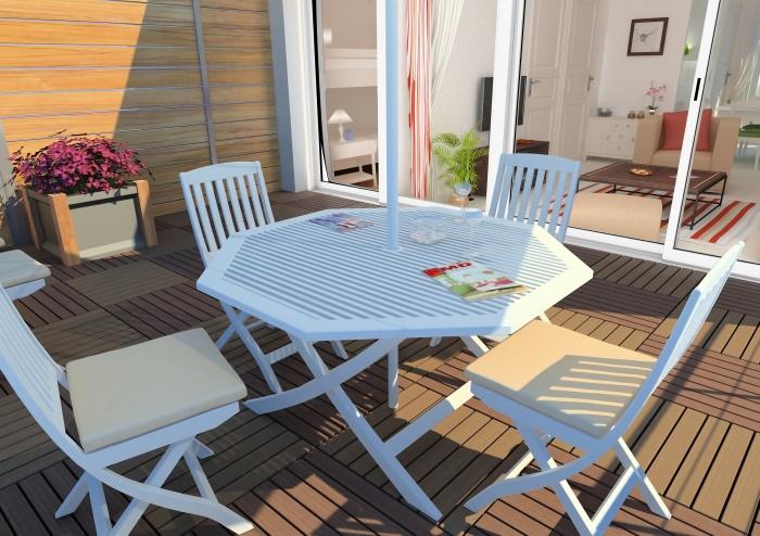 Résidence de tourisme 4 étoiles : Terrasse - appartements1