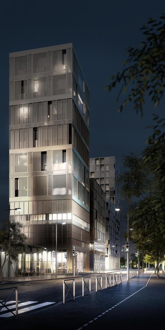 Architectes 124 lgt collectifs rennes lan for Projet architecture paris