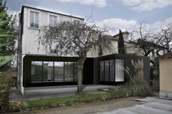 architectes s78 construction extension reamenagement pavillon houilles. Black Bedroom Furniture Sets. Home Design Ideas