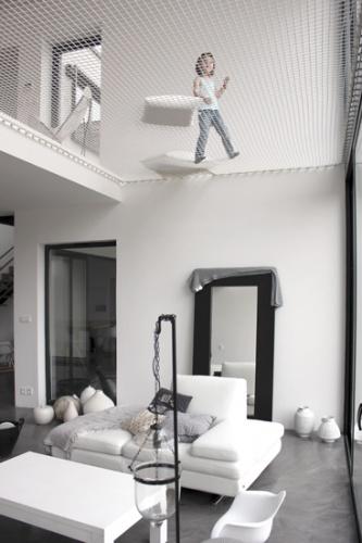 Maison ossature bois : Maison architecte chessy double hauteur