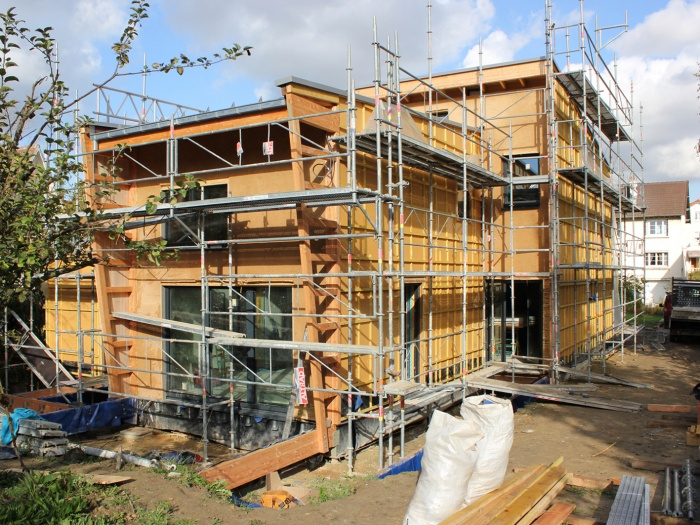 So Watt : Chantier dalle bois poutre en I