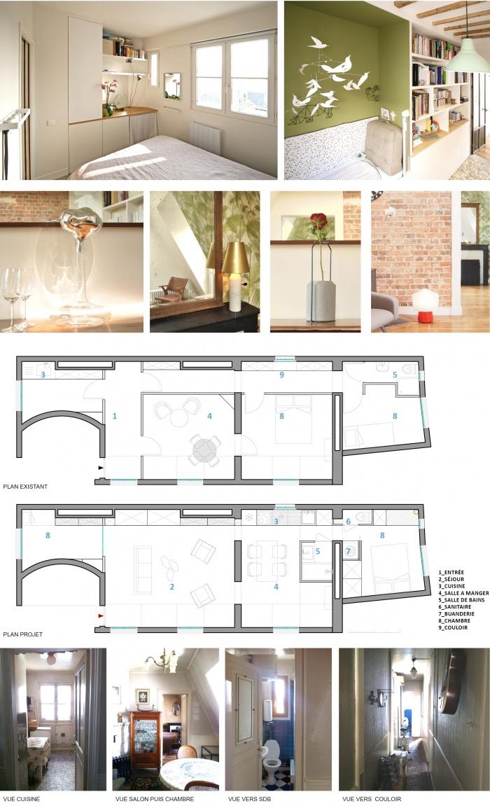 Appartement g r novation lourde paris une r alisation for Appartement architecte paris