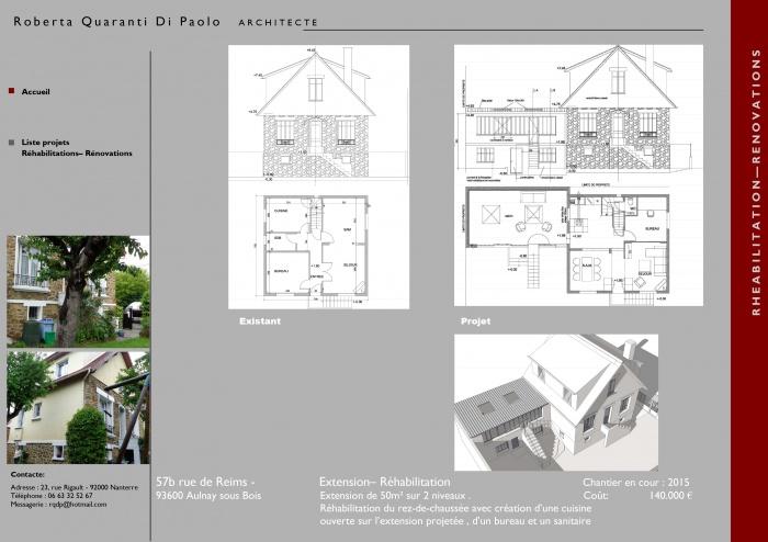 Extansion d'une maison à Aulnay sous Bois : image_projet_mini_81942