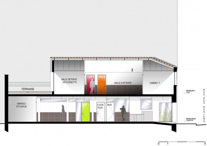 architectes r habilitation d 39 un p le dentaire saint ouen. Black Bedroom Furniture Sets. Home Design Ideas
