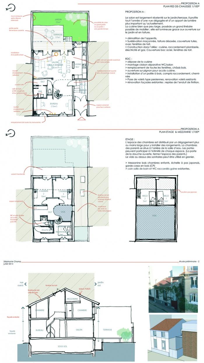 Reconfiguration et surélévation d'une maison : EJ-ETUP-PROP1 copie