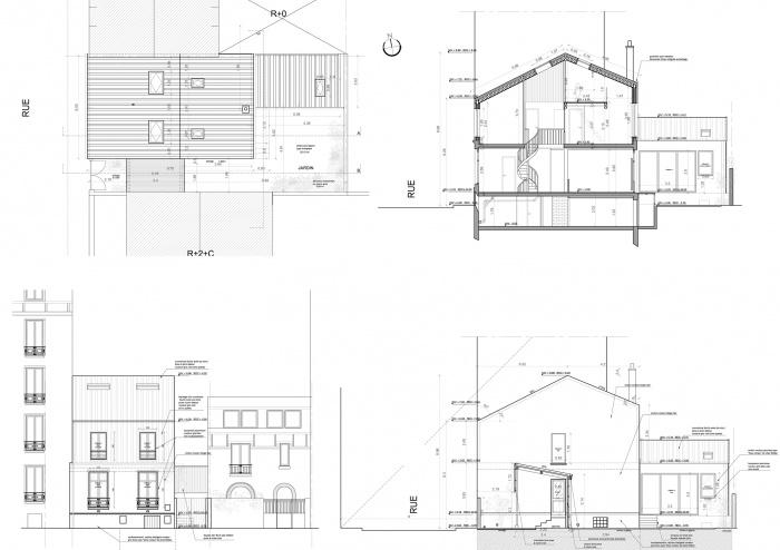 Reconfiguration et surélévation d'une maison : EJ-PC PROJETcopie