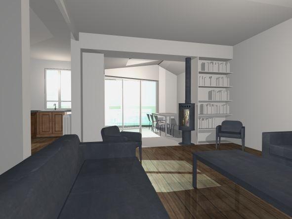 architectes extension contemporaine colombes. Black Bedroom Furniture Sets. Home Design Ideas