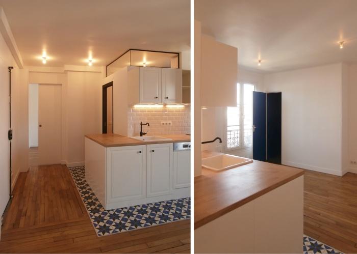 Appartement 35m² : WEB_Oberkampf_150dpi_vues entrée et séjour