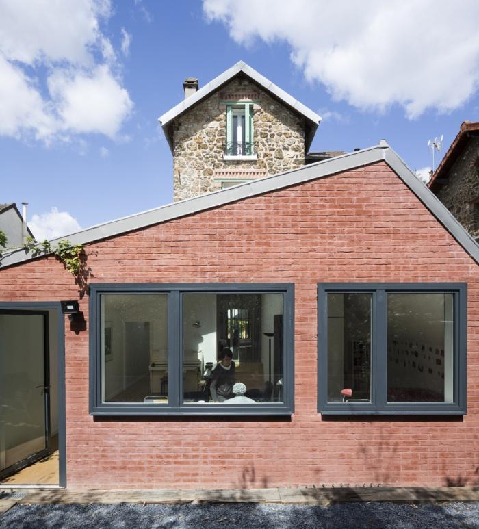 Extension en briques d'une maison en meulière : 5-house extension