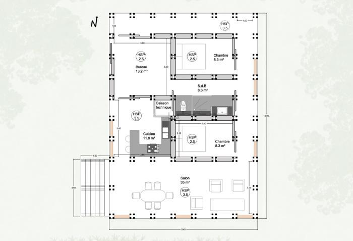 H 09 - Maison Modulaire : H09 7