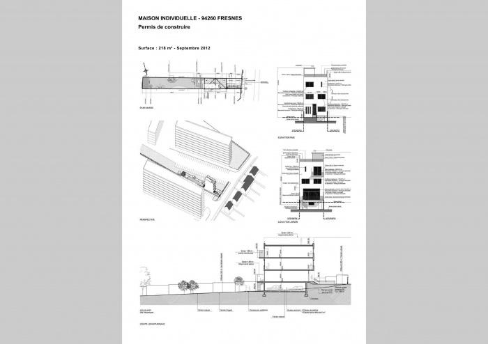 PERMIS DE CONSTRUIRE . MAISON INDIVIDUELLE