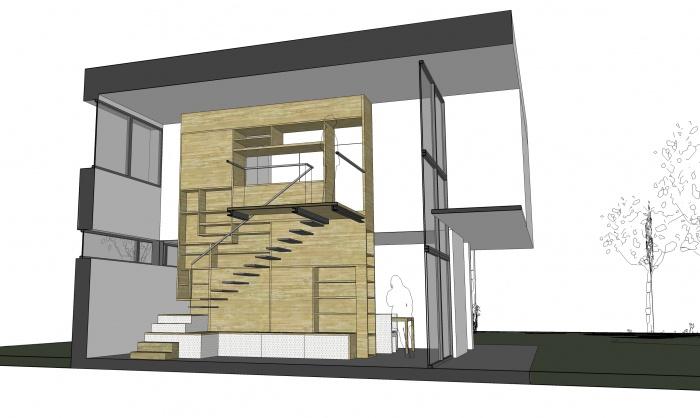 Maison individuelle : 3_INT_COUPE TRANSVERSALE MEUBLE