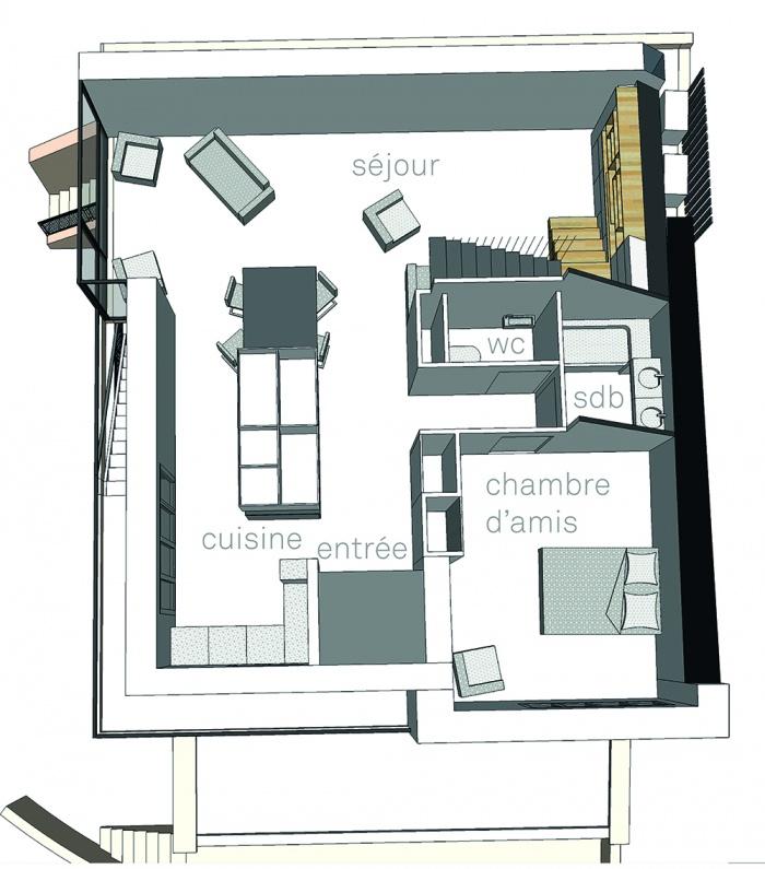 Projet de surélévation - Penthouse : 1_PLAN SURELEVATION R+3
