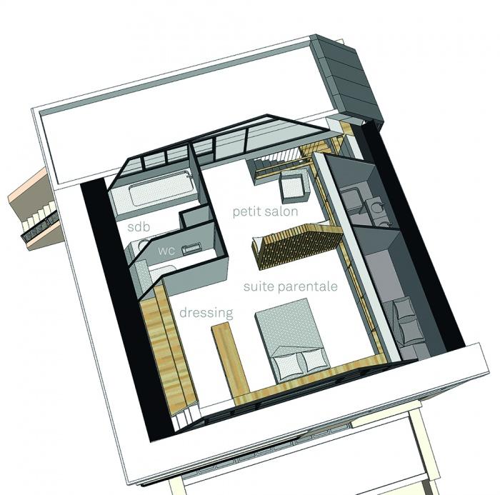 Projet de surélévation - Penthouse : 2_PLAN SURELEVATION R+4