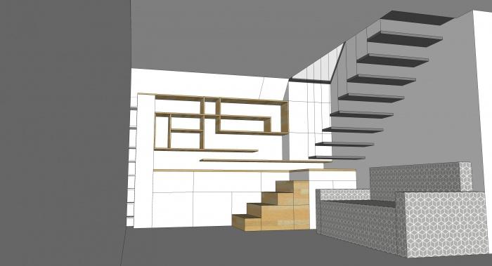 Projet de surélévation - Penthouse : 1_DETAIL_R+3_ESCALIER