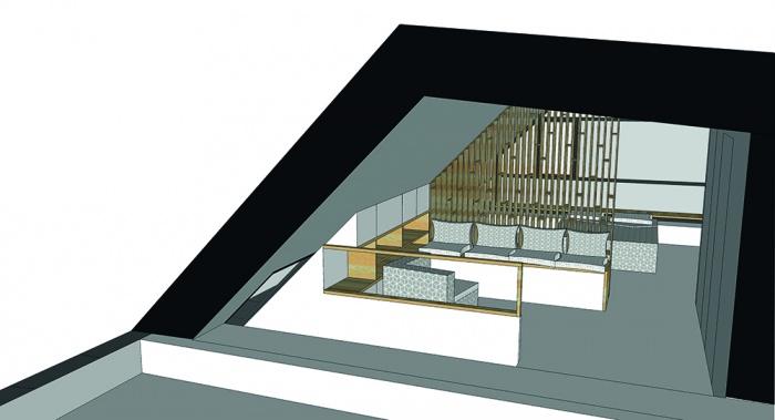 Projet de surélévation - Penthouse : 3_DETAIL_R+4_SALON low