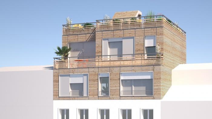 Surélévation d'un immeuble parisien : surelevation rooftop paris 3