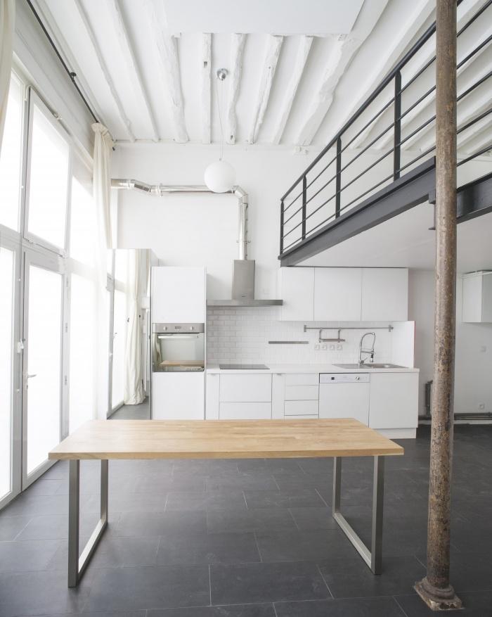 LOFT SOUPLEX B : Espace cuisine et salle à manger