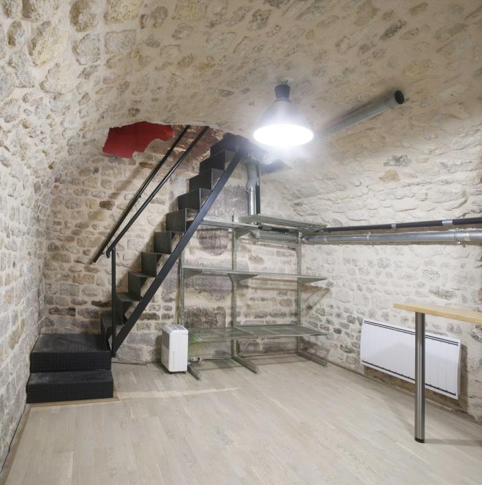 LOFT SOUPLEX B : l'escalier du sous-sol