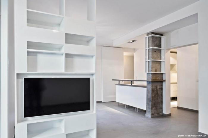 r novation d 39 appartement levallois 92 levallois perret une r alisation de yann coulouarn. Black Bedroom Furniture Sets. Home Design Ideas