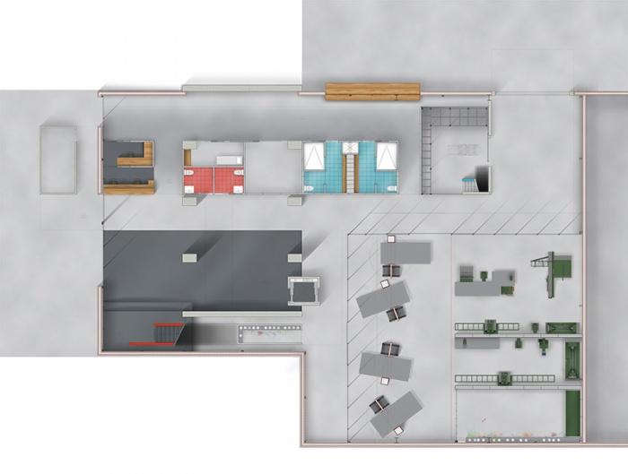 Résidence d'Artisanat Numérique - Silo8 : Plan R+0