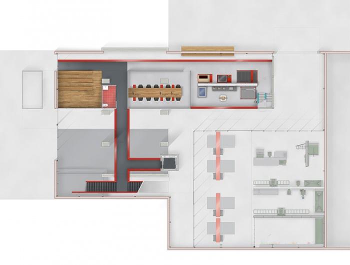 Résidence d'Artisanat Numérique - Silo8 : Plan R+1