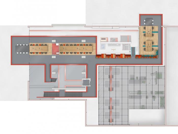 Résidence d'Artisanat Numérique - Silo8 : Plan R+2