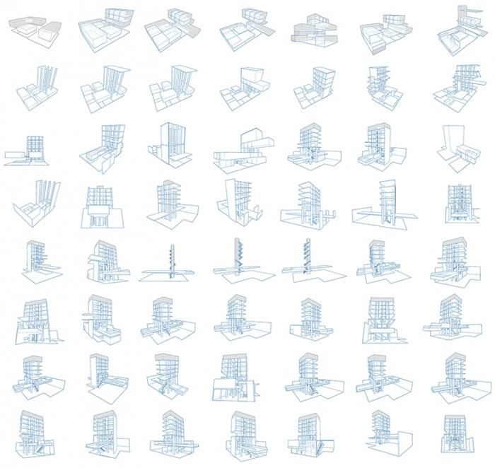 Résidence d'Artisanat Numérique - Silo8 : Ensemble des recherches architecturales