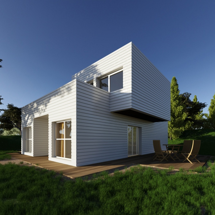 Architectes trouver votre architecte loft maison bois contemporaine for Photo maison contemporaine container