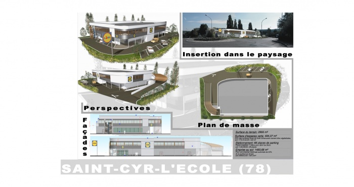 Construction d'une surface commerciale : 10 Lidl St.Cyr