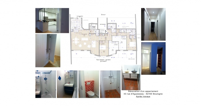 Restructuration appartement immeuble 1990 : 5 RUE D\'AGUSSEAU BOULOGNE-APRES