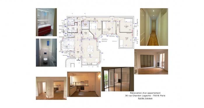 architectes restructuration appartement immeuble ann e 30 paris. Black Bedroom Furniture Sets. Home Design Ideas