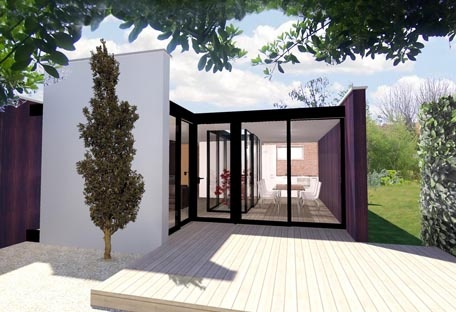 Maison HQE : terrasse