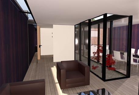 maison avec patio intrieur ancienne maison rnover avec. Black Bedroom Furniture Sets. Home Design Ideas