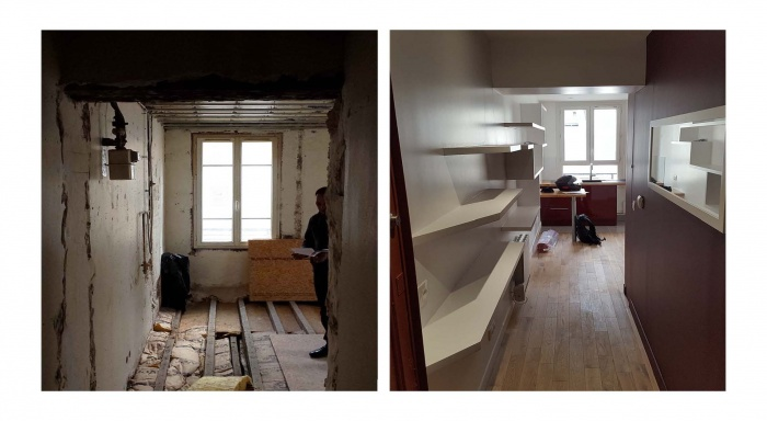 renovation appartement 22 rue de la roquette paris 11 une r alisation de cabinet nbbh. Black Bedroom Furniture Sets. Home Design Ideas