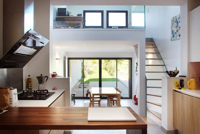 architectes extension bois chatou. Black Bedroom Furniture Sets. Home Design Ideas